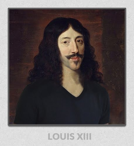 Le roi Louis XIII portant un T-shirt GoudronBlanc