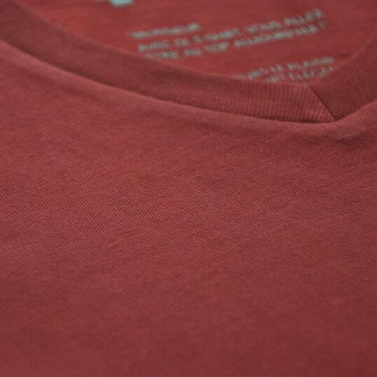 Tissu rouge brique