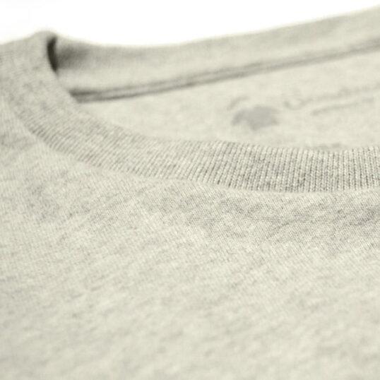 Col rond - Tissu épais gris chiné sable