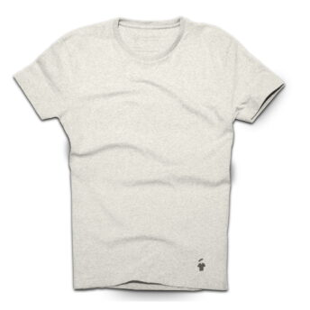 T-shirt gris sable col rond