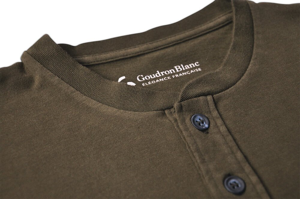 Buttons - Henley khaki aviator - GoudronBlanc