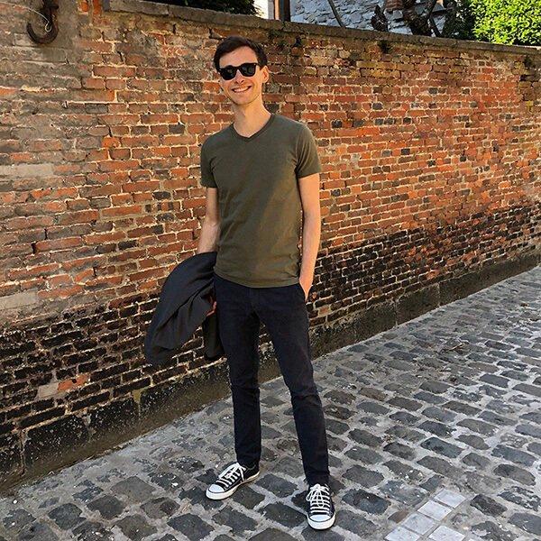 T-shirt kaki pour homme - GoudronBlanc