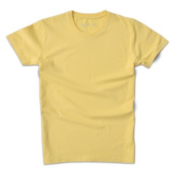 T-shirt col rond jaune zinc