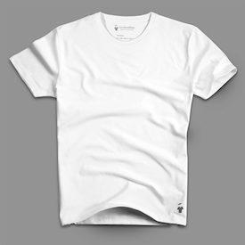 T-shirt blanc en coton bio - Marque GoudronBlanc