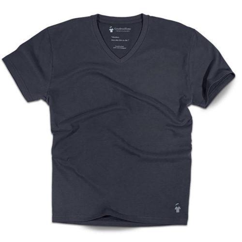 T-shirt col V gris ardoise pour homme
